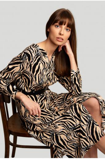 Viscose printed dress