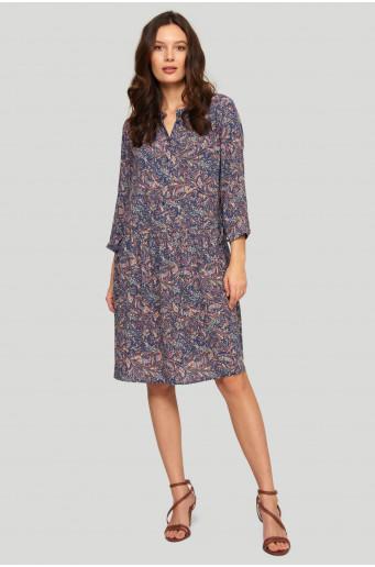 Viscose paisley dress