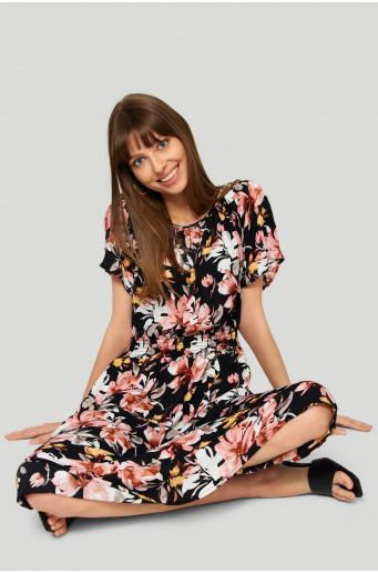 Printed ladies'dress