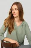Loose ruffled blouse