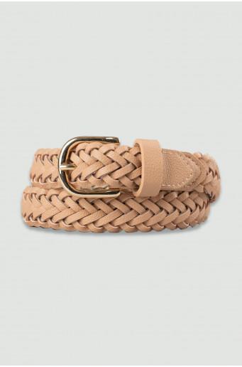 Light beige weave belt