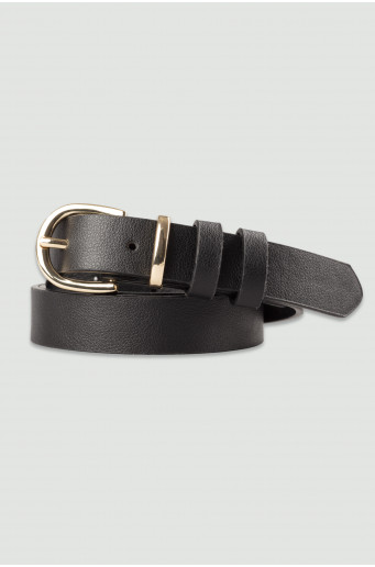 Black belt with golden buckle